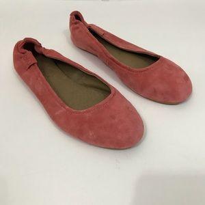 Emu Australia pink leather flats Round Toe 10